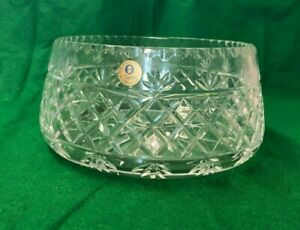 VINTAGE COLLECTABLE ZAWIERCIE LEAD CRYSTAL GLASS FRUIT BOWL    HOUSE CLEARANCE