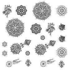 Tattoo Aufkleber Temporäre Körperkunst Entfernbar Mandala Sticker für Körper