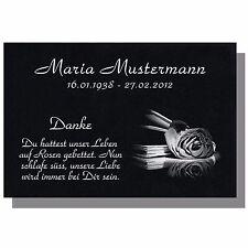 Grabstein GRANIT Grabplatte Grabtafel Ihre Wunsch Gravur 30x20 cm buch-gg6s
