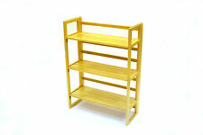 3 tier wooden folding book shelf, book stands, shelves, book shelves