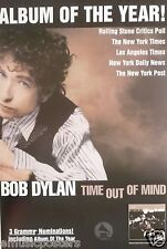 """BOB DYLAN """"TIME OUT OF MIND-ALBUM OF YEAR-3 GRAMMY NOMINATIONS"""" US PROMO POSTER"""