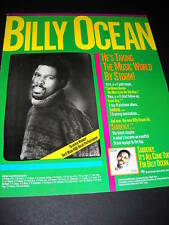 Billy Ocean Takes World By Storm 1984 Promo Poster Ad