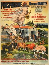 Original Vintage Poster Phosphorine by Lobel Riche 1910 French Farm Agriculture