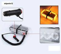 24 LED Ambra Luce Strobo Emergenza Lampeggiante Barra Magnetico IP65