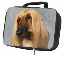 More details for afghan hound dog black insulated school lunch box bag, ad-ag1lbb
