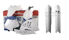 NEW Polisport KTM SX 08 09 10 Plastic Kit & Fork Guards White Motocross