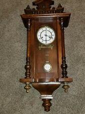 Antique German Mechanical Pendulum winding Wall clock Ra wood