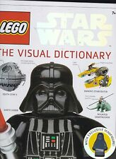 LEGO STAR WARS THE VISUAL DICTIONARY BOOK KIDS  *** MISSING MINI FIGURE ***