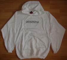 GRINDKING embroiderd logo Skateboard Hooded Top / Hoodie White - L - Grind king