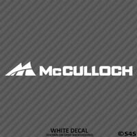 McCulloch Engines Vinyl Decal Sticker Motor V2 - Choose Color