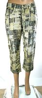 Pantaloni Donna 7/8 MET Italy C668 Gamba Dritta Nero/Oro Tg 27 veste grande