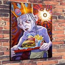 "Gollum Pop Art Printed Canvas A1.30""x20""Deep 30mm Frame Lord Of The Rings Burger"