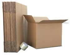 4x4x4 - 100 Corrugated Boxes for Moving - Packing - Shipping Boxes
