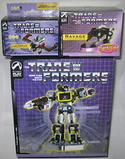 Transformers G1 Soundwave Laserbeak & Ravage Palisades Statue Set MISB Bust