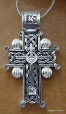 sterling silver 925'  Pendant Cross consecrated to the relics of st George #6