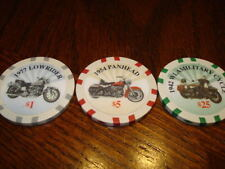 Harley Davidson Poker Chip $1-$5-$25 Chip Very Cool...you get the three chips