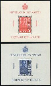 SAN MARINO 1938 FOGLIETTI ABRAMO LINCOLN MNH** SASSONE 2-3