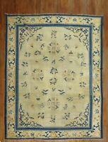 Antique Chinese Peking Ningxia Rug Size 9'1''x11'6''
