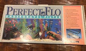 """perfectaflo undergravel aquarium filter 12x24 """"parts only"""""""