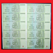 ZIMBABWE 100 TRILLION DOLLARS (10 X 10 TRILLION) OVER 50 IN STOCK! AUTHENTIC!
