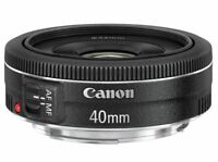 Canon EF 40mm f/2.8 STM Pancake Lens Black