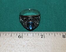 Ring US Navy Silver USN Tone Size 13 Blue Stone Class Style Veteran Gift FREESHP