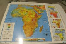 """Nystrom Laminated 2 Sided Map of Africa & Middle East 22"""" X 17"""" Homeschool"""