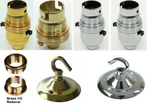 Lamp Holders Brass / Chrome Switched or Unswitched