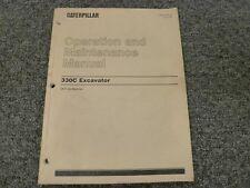 Caterpillar Cat 330C Hydraulic Excavator Owner Operator Maintenance Manual