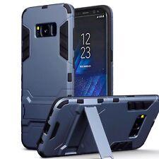 SAMSUNG Galaxy S8 Genuine resistente agli urti Rugged CASE Multi Strato Blu Nero