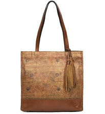 $199 Patricia Nash Toscano North / South Tote Venetian Print Tooling NWT