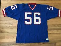 Vintage New York Giants Lawrence Taylor Sand Knit Blue Football Jersey XL