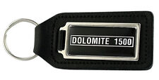 Triumph Dolomite 1500 Rectangle Black Leather Keyring