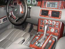 Fits Ford F-150 01-03 Wood Chrome Dash Trim Kit Woodgrain Parts