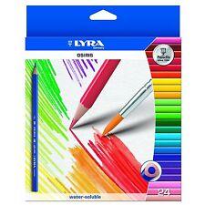 24 x LYRA Osiris solubile in acqua matite colorate con Pennello-FORMA TRIANGOLARE