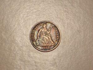 1868 S Seated Liberty Half Dime (VF & Attractive)