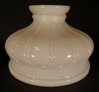 """New 10"""" Early Coleman Style Opal White Glass Lamp Shade, Hand Blown, USA Made"""
