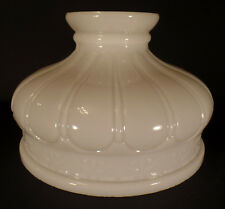"10"" Early Coleman Style Opal Glass Oil Kerosene Electric Lamp Shade fits Aladdin"