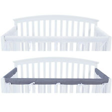 3-Piece Crib Rail Cover Protector Safe Teething Guard Wrap for Standard Crib