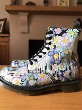 Dr Martens Blue Slime Floral Pascal Boot Size 5 UK