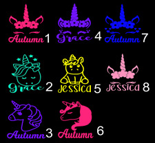 Unicorn personalized name Decal Single Color 3inchx3inch A