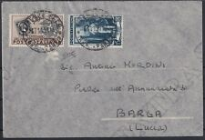 1951 07 Nov letter from Florence to Barga in fee L. 25 with l.10 stamp s