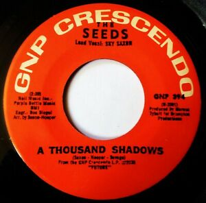 THE SEEDS Thousand Shadows VINYL 45 Psych Garage Rock Nuggets Crescendo Records