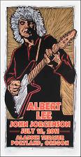 Albert Lee Poster Original Signed Silkscreen by Gary Houston