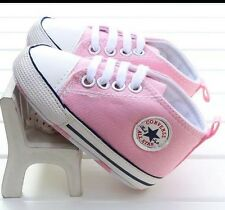 c40ffc79124b BABY GIRLS PINK CANVAS SHOES CONVERSE BRAND NEW