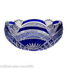 BARCHETTA guscio di cristallo vetro con cobalto blu di cattura, Josephinenhütte