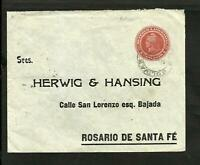 ARGENTINA POSTAL STATIONERY, BOLIVAR TO ROSARIO 1905 W/ADVERTISING, VF