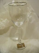 NEW Noritake ALLAIRE PLATINUM Crystal WINE GLASSES - SETS of 4 - NEW IN BOX