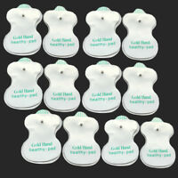 Lots Reusable Tens Machine Replacement Stud Electrode Pads for Therapy Massager
