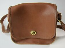 Vintage  Leather Coach Stewardess Bag 9965 Tan Brown Adjustable Strap